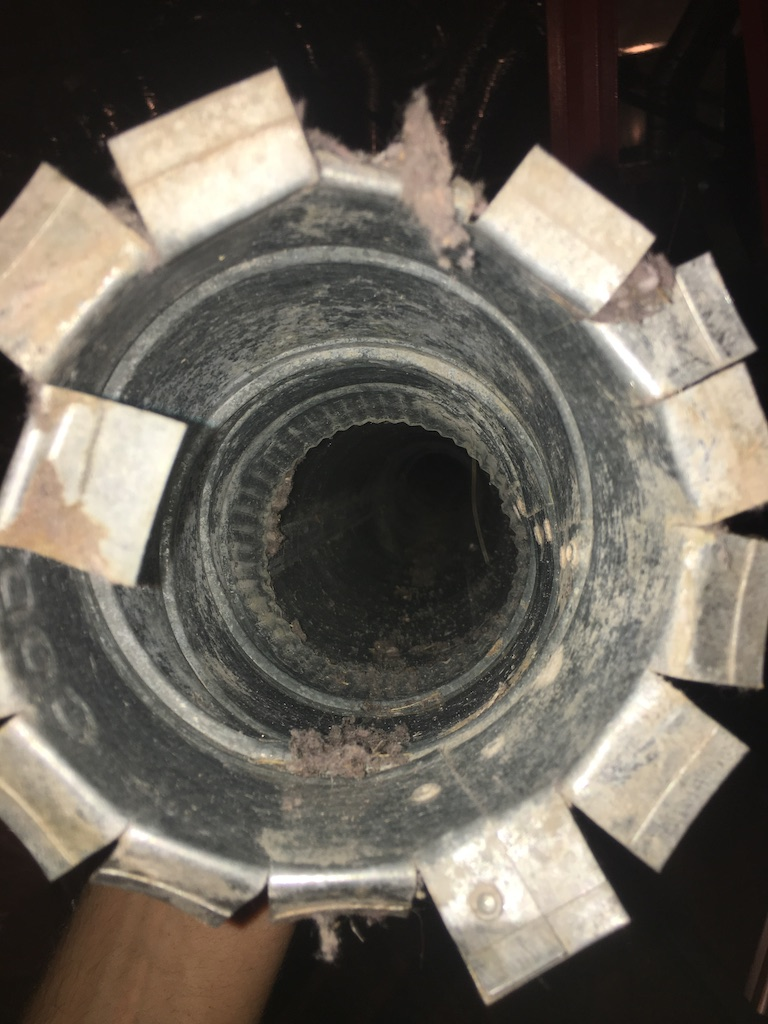 inside view of a cleaned air duct after duct cleaning services- What air ducts should look like.