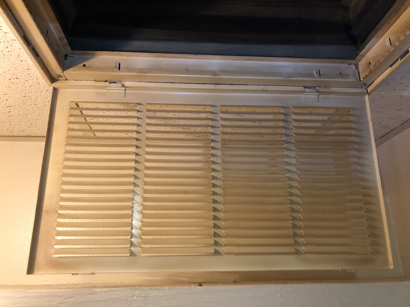 inside view of a cleanded out air duct after cleaning services